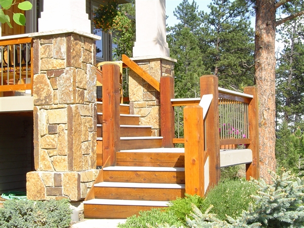 Deck Stairs refinishing and staining
